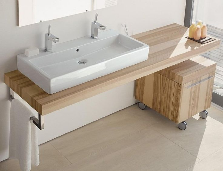 Vasque sur bois