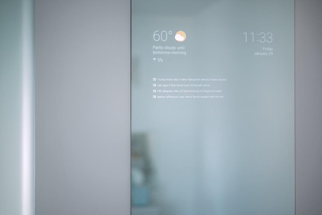 Miroir connecté pour salle de bain