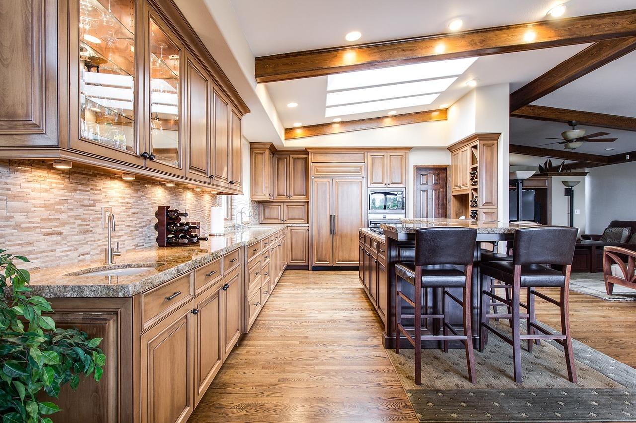 cuisine moderne et spot encastrable