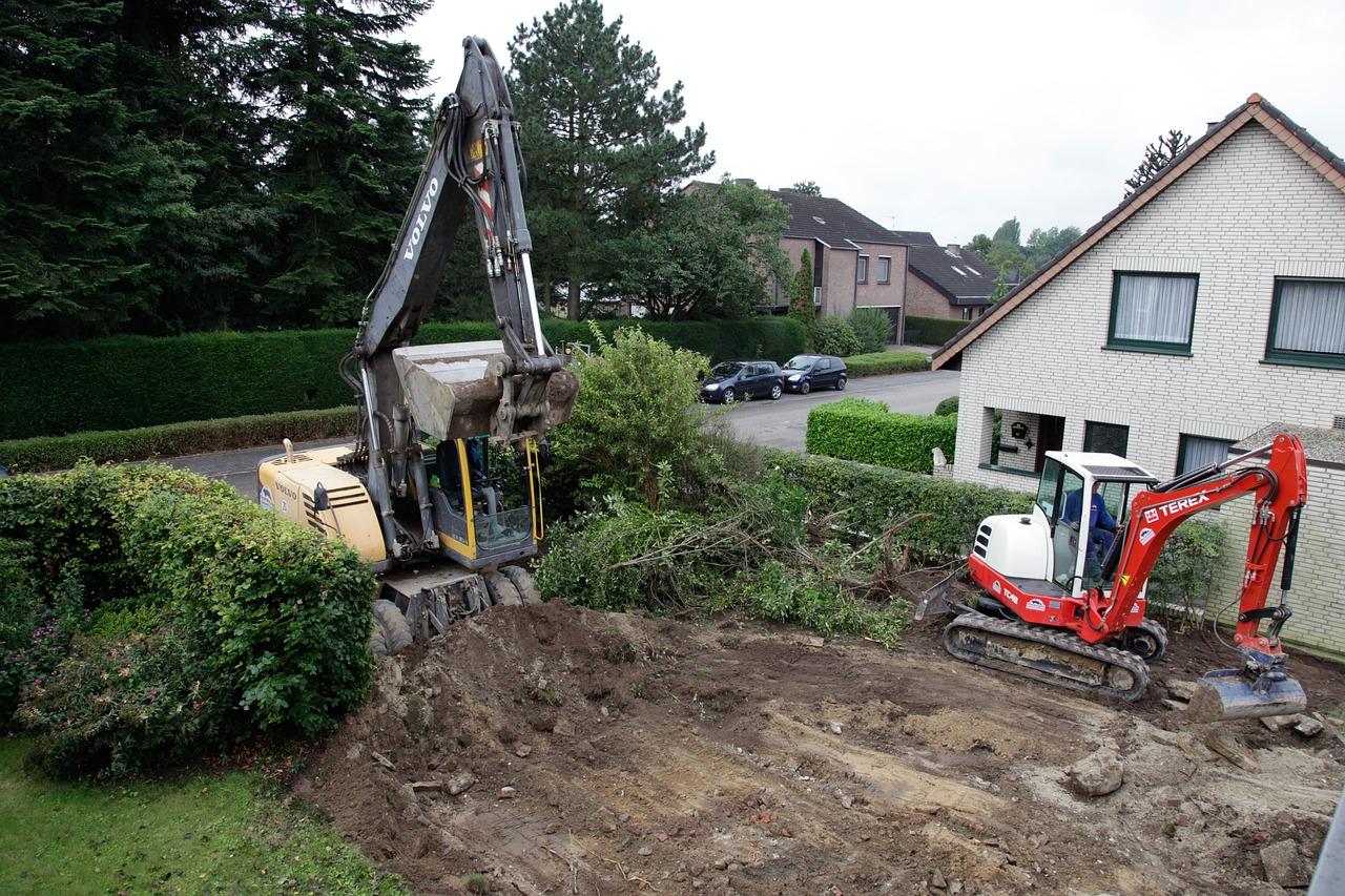 terrassement chantier maison